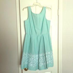 Pleated Mint Green Midi Dress